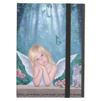Little Miracles Cute Angel & Kitten iPad Air Case