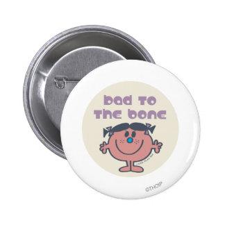Little Miss Bad | Bad To The Bone 6 Cm Round Badge