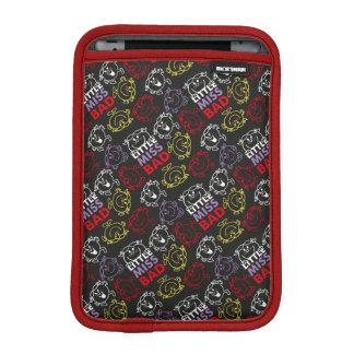 Little Miss Bad | Black, Red & Yellow Pattern iPad Mini Sleeve