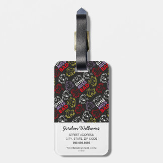Little Miss Bad | Black, Red & Yellow Pattern Luggage Tag