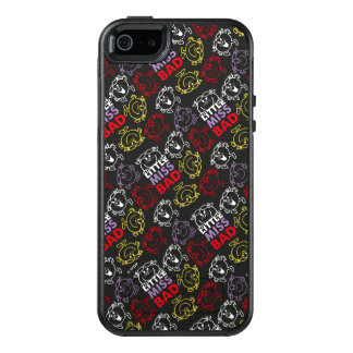 Little Miss Bad | Black, Red & Yellow Pattern OtterBox iPhone 5/5s/SE Case