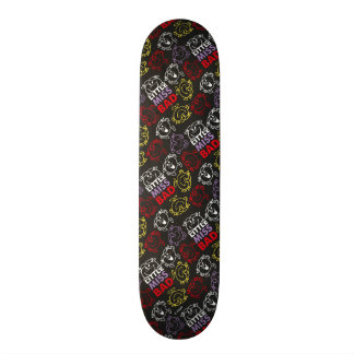 Little Miss Bad | Black, Red & Yellow Pattern Skate Boards