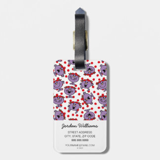 Little Miss Bad | Red Polka Dot Pattern Luggage Tag