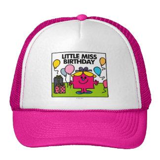 Little Miss Birthday   Presents & Balloons Cap
