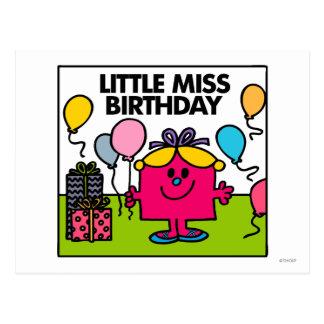 Little Miss Birthday | Presents & Balloons Postcard