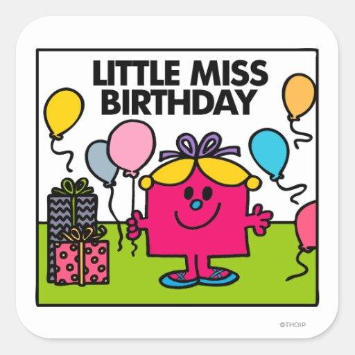 Little Miss Birthday Scene Stickers