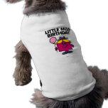 Little Miss Birthday With Pink Balloon Sleeveless Dog Shirt