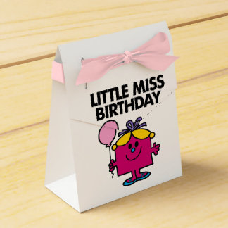 Little Miss Birthday With Pink Balloon Favour Box
