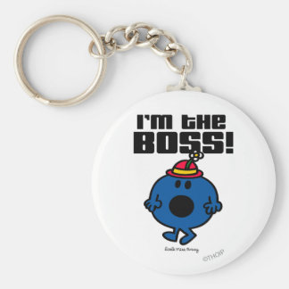 Little Miss Bossy | I'm The Boss Basic Round Button Key Ring