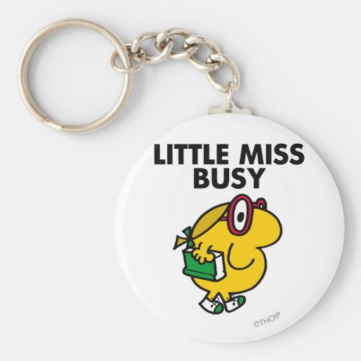 Little Miss Busy Classic Keychain