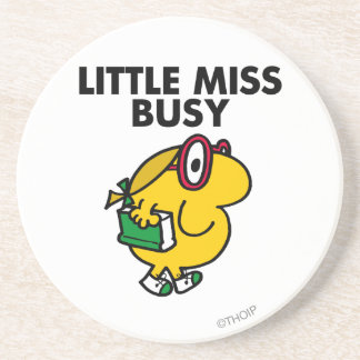 Little Miss Busy | Reading Time Drink Coasters