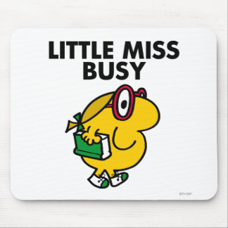 Little Miss Busy | Reading Time Mouse Pad