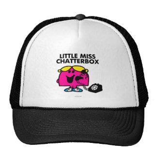Little Miss Chatterbox & Black Telephone Cap