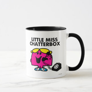 Little Miss Chatterbox & Black Telephone Mug