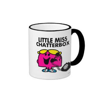 Little Miss Chatterbox & Black Telephone Ringer Mug