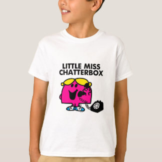 Little Miss Chatterbox & Black Telephone T-Shirt