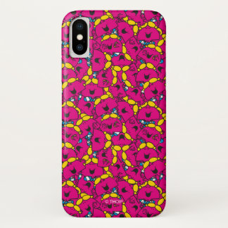 Little Miss Chatterbox | Bright Pink Pattern iPhone X Case