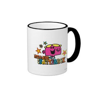 Little Miss Chatterbox & Colorful Stars Ringer Mug