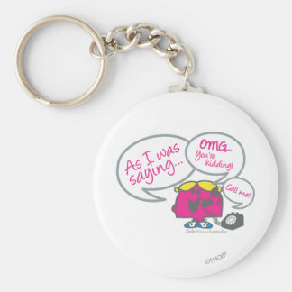 Little Miss Chatterbox & Telephone Basic Round Button Key Ring