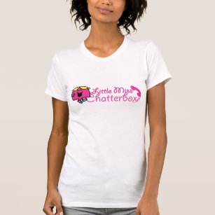 Little Miss Chatterbox | Telephone Cord Lettering T-Shirt