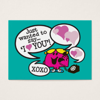 Little Miss Chatterbox | Valentine Business Card