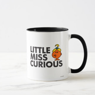 Little Miss Curious | Black Lettering Mug