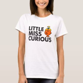 Little Miss Curious | Black Lettering T-Shirt