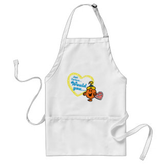 Little Miss Curious Valentine's Day Wish Standard Apron