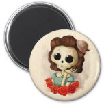 Little Miss Death and Roses Magnet