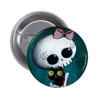 Little Miss Death - Halloween Beauty 6 Cm Round Badge