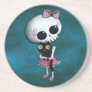 Little Miss Death - Halloween Beauty Drink Coasters