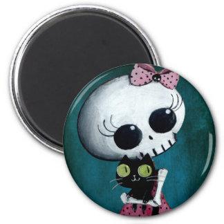 Little Miss Death - Halloween Beauty 6 Cm Round Magnet