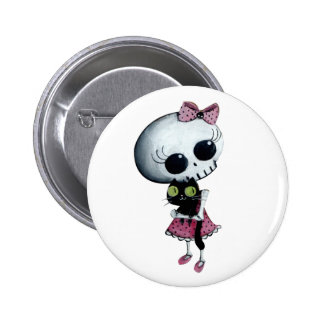 Little Miss Death - Hallowen Beauty 6 Cm Round Badge