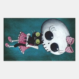 Little Miss Death - Hallowen Beauty Sticker