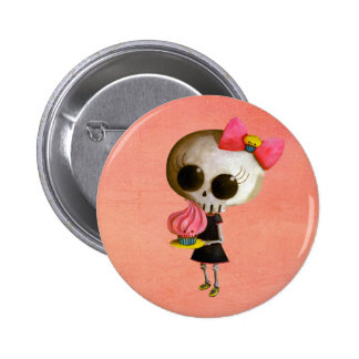 Little Miss Death with Cupcake 6 Cm Round Badge