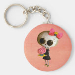 Little Miss Death with Cupcake Keychain