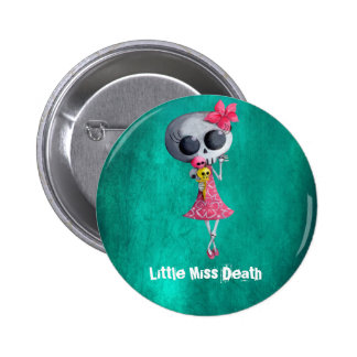 Little Miss Death with Halloween Ice Cream 6 Cm Round Badge