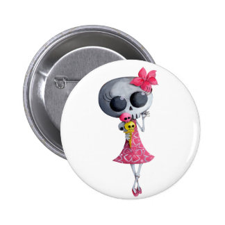 Little Miss Death with Halloween Ice Cream Pins