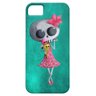 Little Miss Death with Halloween Ice Cream iPhone 5 Covers