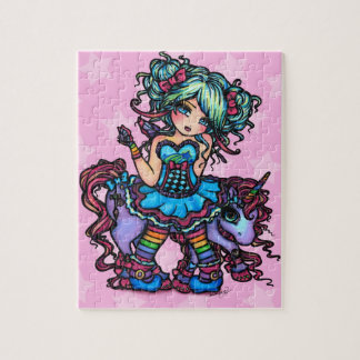 Little Miss Deelish Fairy Unicorn Fantasy Jigsaw Puzzle