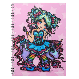 Little Miss Deelish Fairy Unicorn Princess Fantasy Notebooks