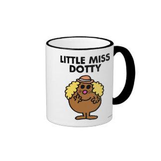 Little Miss Dotty | Black Lettering Ringer Coffee Mug