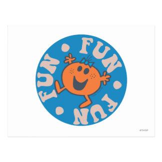 Little Miss Fun Fun Fun Postcard