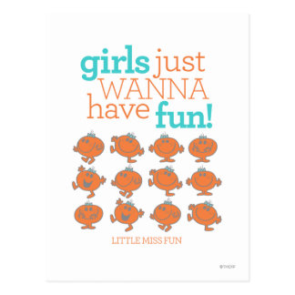 Little Miss Fun | Girls Just Wanna Have Fun Postcard