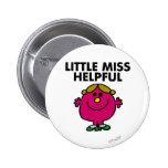 Little Miss Helpful   Black Lettering 6 Cm Round Badge