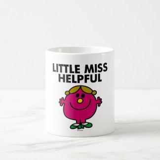 Little Miss Helpful | Black Lettering Classic White Coffee Mug