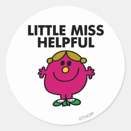 Little Miss Helpful Classic Sticker