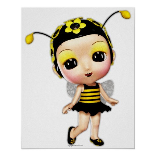 Little Miss Lady Bumblebee Poster
