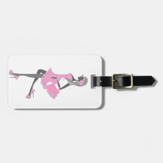 Little Miss Lady Shopper Dressed In Pink Luggage Tag