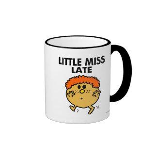 Little Miss Late | Black Lettering Ringer Mug